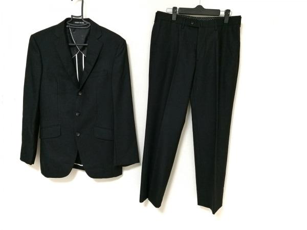 PERSON'S(パーソンズ) シングルスーツ メンズ ダークグレー FOR MEN/ストライプ