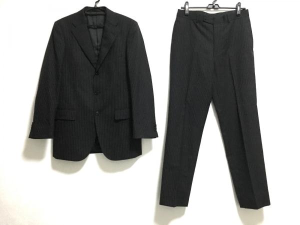 MALE&Co(メイルアンドコー) シングルスーツ メンズ 黒×白 ストライプ