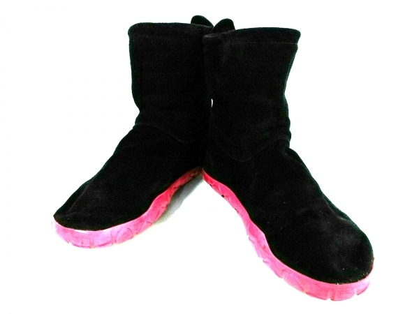 NIKE(ナイキ) ショートブーツ レディース エアチャッカモック 325323-051 黒×ピンク