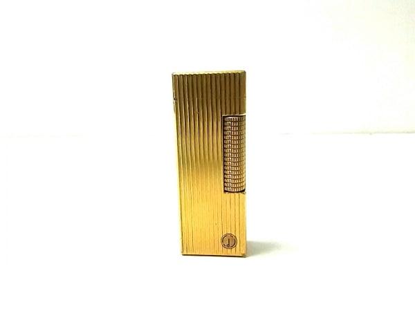 dunhill/ALFREDDUNHILL(ダンヒル) ライター美品  ゴールド 金属素材
