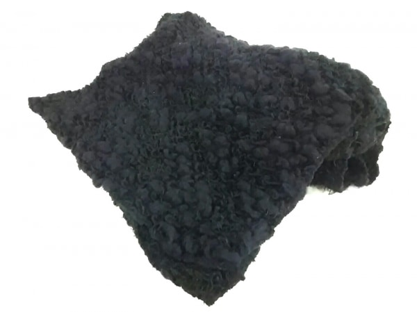 KRIZIA MAGLIA(クリッツィアマグリア) マフラー 黒 ポリエステル×ウール×エラスタン