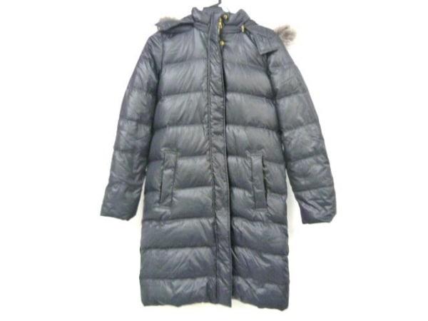 ラピスルーチェ ダウンコート サイズ38 M レディース 黒 ファー/冬物