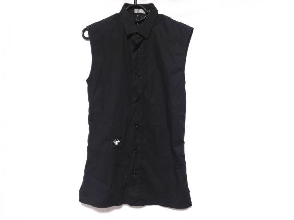 Dior HOMME(ディオールオム) ノースリーブシャツ サイズ37 メンズ 黒