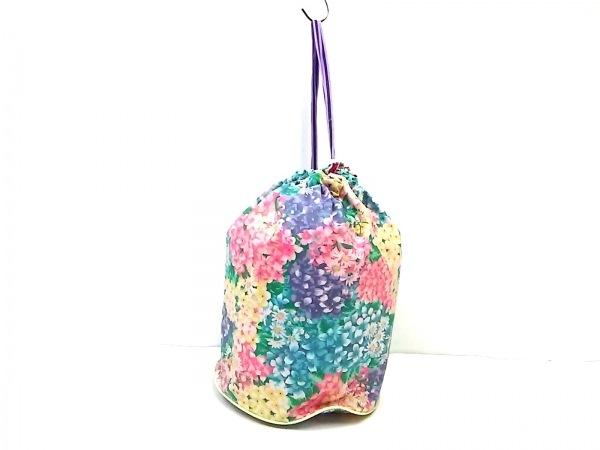 fafa(フェフェ) ワンショルダーバッグ美品  ピンク×グリーン×マルチ 花柄