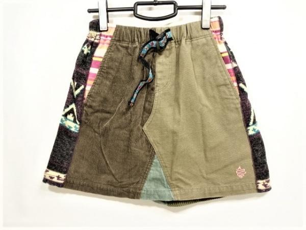 アールディーズ ミニスカート サイズS レディース美品  カーキ×ピンク×マルチ