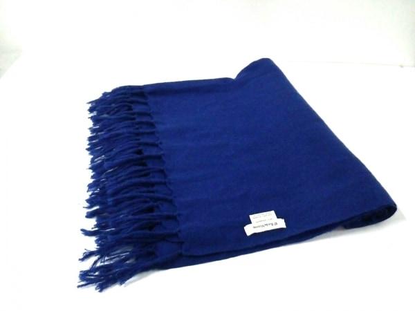 97 Ruedes Mimosas(リューデミモザ) ストール(ショール)新品同様  ブルー カシミヤ