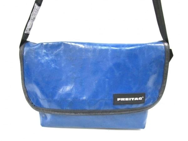 FREITAG(フライターグ) ショルダーバッグ ブルー×黒 PVC(塩化ビニール)