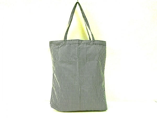 チチ トートバッグ 黒×白×ライトグレー チェック柄/折りたたみバッグ/ポーチ付き