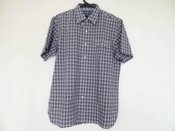 ラルフローレン 半袖シャツ サイズL メンズ美品  ネイビー×レッド×マルチ