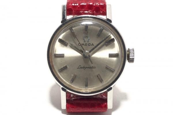 OMEGA(オメガ) 腕時計 レディマティック - レディース 革ベルト シルバー
