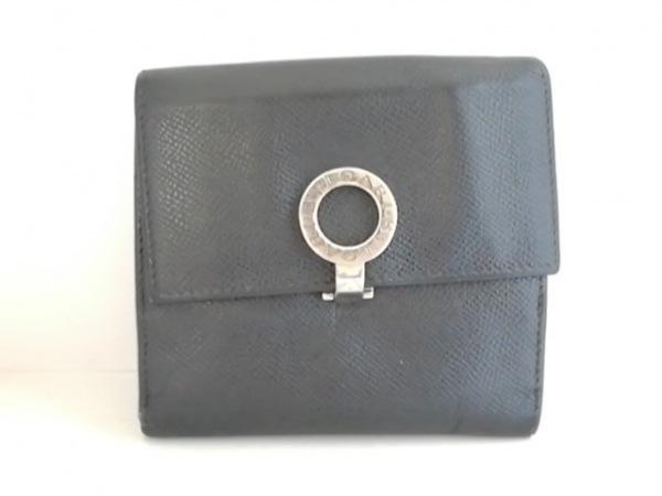 BVLGARI(ブルガリ) 2つ折り財布 ブルガリブルガリ 黒 レザー