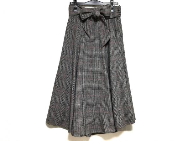 ミラオーウェン スカート サイズ1 S レディース 黒×レッド×白 チェック柄