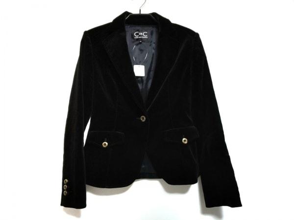 クードシャンス ジャケット サイズ38 M レディース美品  黒 ベロア