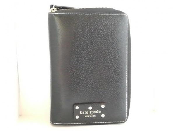Kate spade(ケイトスペード) 手帳 CA57710 黒 ラウンドファスナー レザー