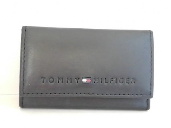 TOMMY HILFIGER(トミーヒルフィガー) キーケース 黒 6連フック レザー