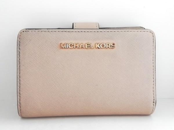 MICHAEL KORS(マイケルコース) 2つ折り財布 ベージュ レザー