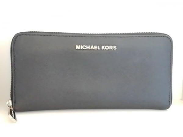 MICHAEL KORS(マイケルコース) 長財布 黒 ラウンドファスナー レザー