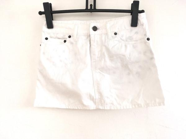 ルシアンペラフィネ ミニスカート サイズXS レディース美品  白 スカル