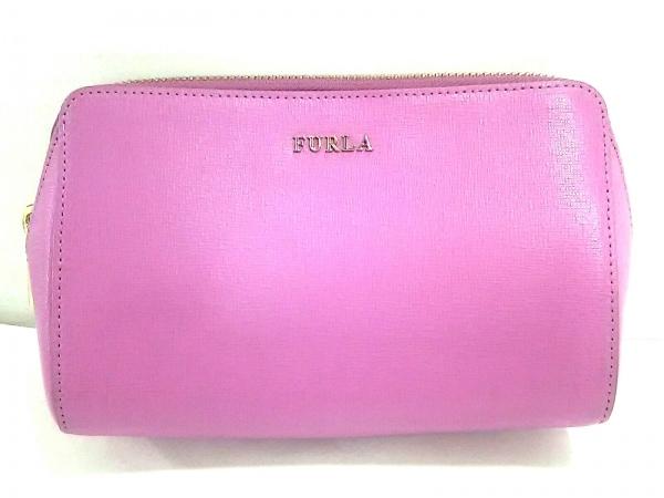 FURLA(フルラ) ポーチ新品同様  ピンク×ベージュ×アイボリー 3点セット レザー