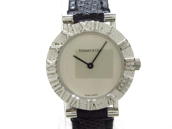 ティファニー 腕時計美品  L0640 レディース 925/革ベルト/型押し加工 アイボリー