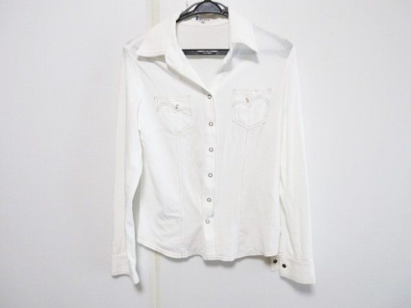 PICONE(ピッコーネ) 長袖シャツブラウス サイズ40 M レディース アイボリー 刺繍