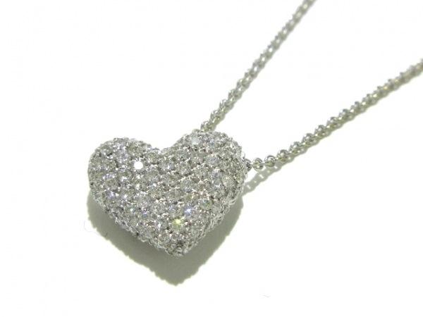 PonteVecchio(ポンテヴェキオ) ネックレス美品  K18WG×ダイヤモンド ハート