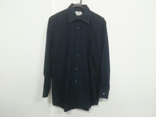 HERMES(エルメス) 長袖シャツ サイズ15 1/2 39 メンズ ネイビー