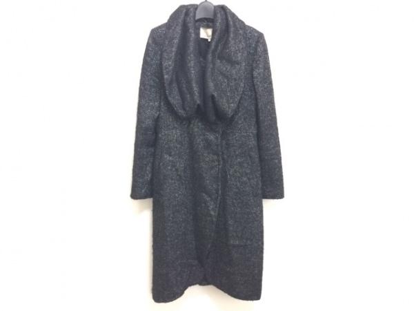 MINT(ミント) コート サイズ4 XL レディース 黒×アイボリー 冬物
