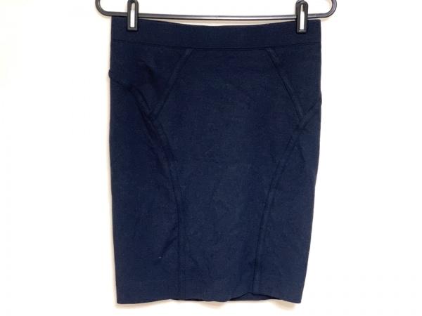 three dots(スリードッツ) スカート サイズS レディース ダークネイビー