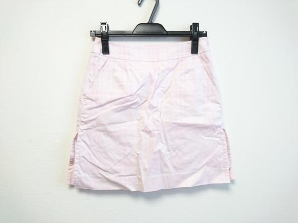 バーバリーゴルフ ミニスカート サイズ5 XS レディース美品  ピンク チェック柄