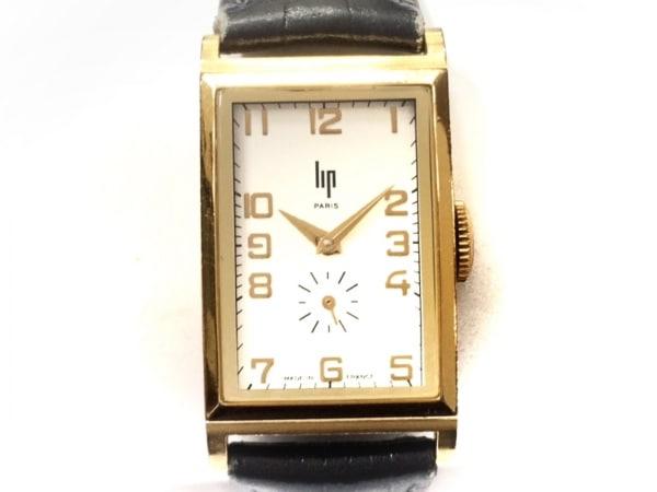 Lip(リップ) 腕時計 - レディース 革ベルト/型押し加工 シルバー