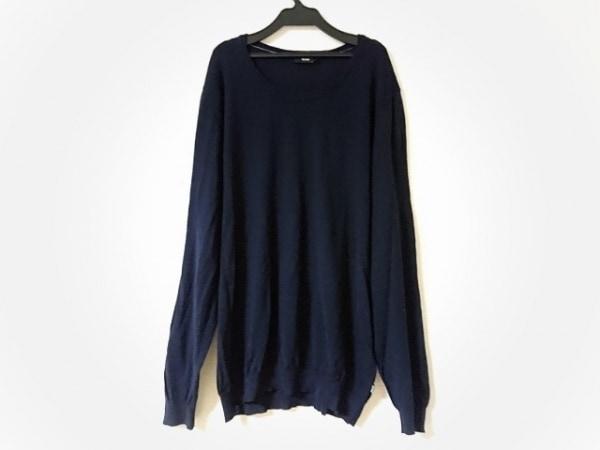 HUGOBOSS(ヒューゴボス) 長袖セーター サイズXXL XL メンズ美品  ネイビー