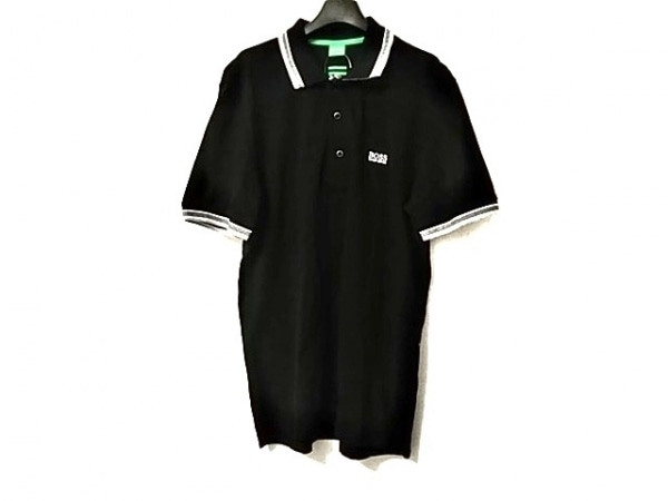 HUGOBOSS(ヒューゴボス) 半袖ポロシャツ サイズL メンズ美品  黒×白