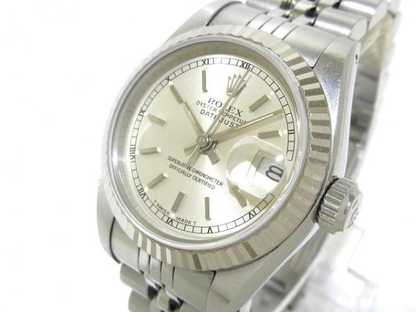 ロレックス 腕時計 デイトジャスト 69174 レディース K18WG×SS/18コマ シルバー