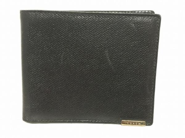 buy online b0eef 7c209 COACH(コーチ) 2つ折り財布 - 黒 レザー
