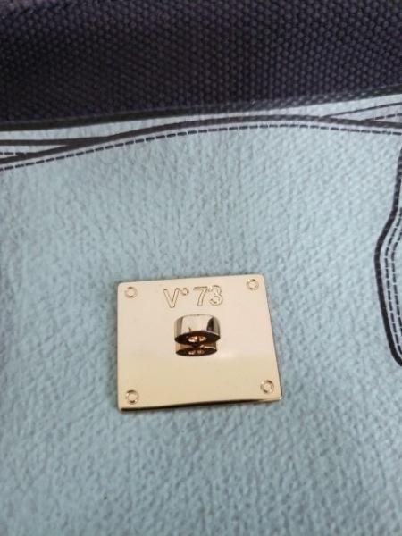 V73(ヴィセッタンタトレ) トートバッグ ライトブルー×ダークグレー