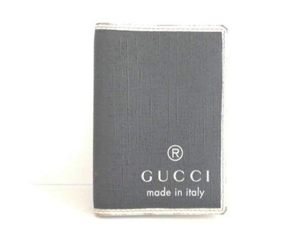 GUCCI(グッチ) パスケース - 170418 黒×アイボリー レザー