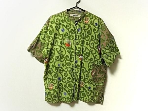 KAPITAL(キャピタル) 半袖シャツ サイズ3 L メンズ ライトグリーン×マルチ