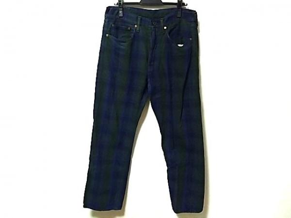キャピタル パンツ サイズ33 メンズ ネイビー×ダークグリーン×ダークネイビー