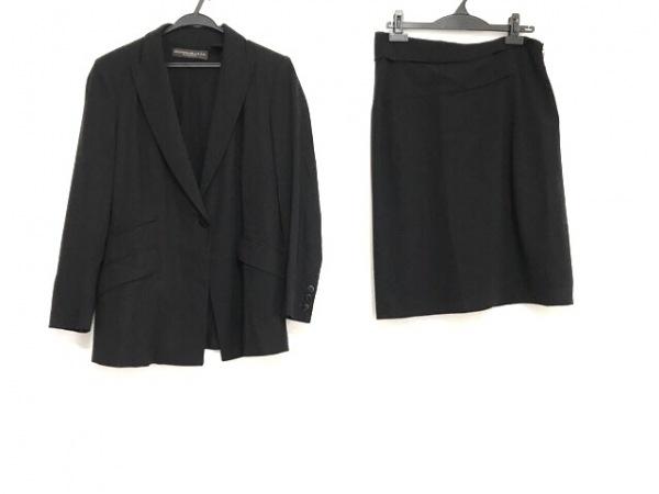 ダナキャランシグネチャー スカートスーツ サイズ4スカート6 レディース美品  黒