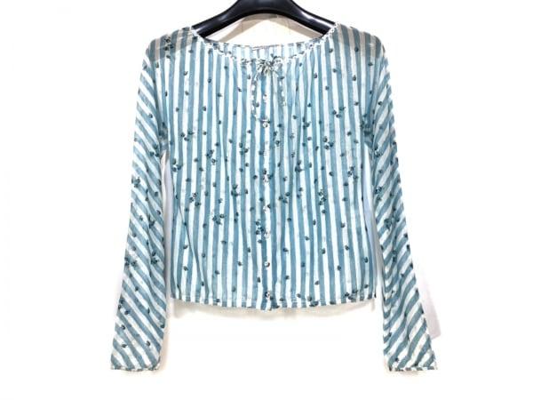 アンナモリナーリ 長袖シャツブラウス サイズ40(I) M レディース ブルー×白×マルチ