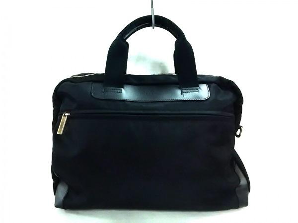 F.CLIO(エフクリオ) ビジネスバッグ美品  黒 ナイロン×レザー
