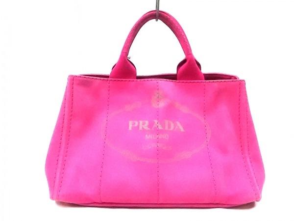 PRADA(プラダ) トートバッグ CANAPA B1877G ピンク キャンバス