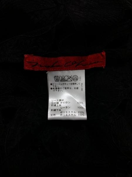 NOKO OHNO(ノコオーノ) コート サイズ42 L レディース 黒 レース/ビジュー/シースルー