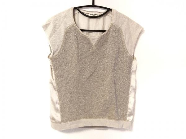 MARILYN MOON(マリリンムーン) 半袖セーター レディース美品  ベージュ×ゴールド