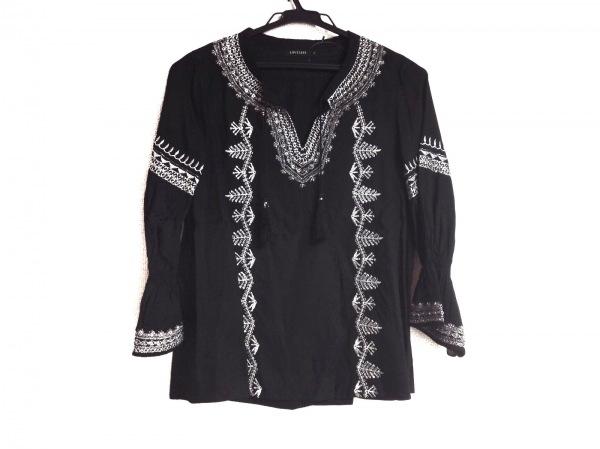 LOVELESS(ラブレス) 長袖カットソー サイズ34 S レディース美品  黒×シルバー 刺繍