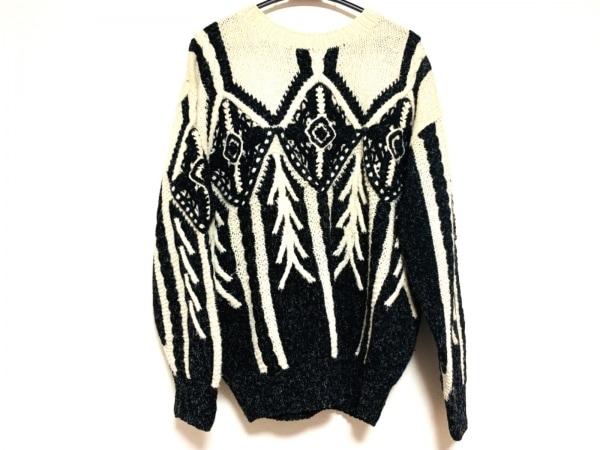 FICCE(フィッチェ) 長袖セーター サイズ3 L レディース アイボリー×黒