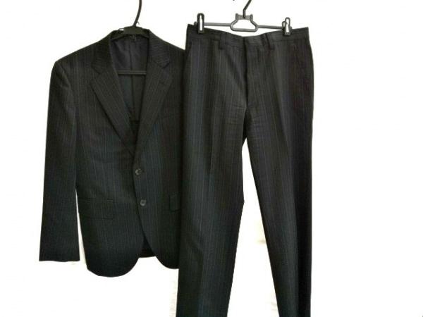 EPOCA(エポカ) シングルスーツ メンズ 黒 ストライプ