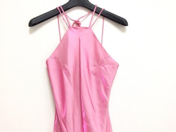 ラデファンス ドレス サイズ9 M レディース ピンク 光沢感/ブローチ・ストール付き