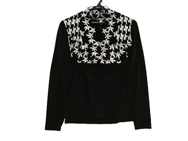 ETINCELLE(エタンセル) 長袖カットソー レディース美品  黒×アイボリー 刺繍